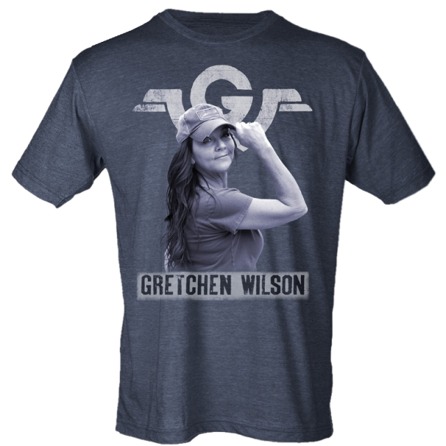 Gretchen Wilson Heather Navy Photo Tee